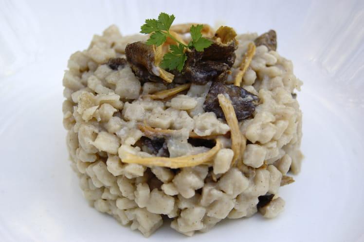 Recette de risotto de crozets aux chanterelles la - Cuisiner la chanterelle ...