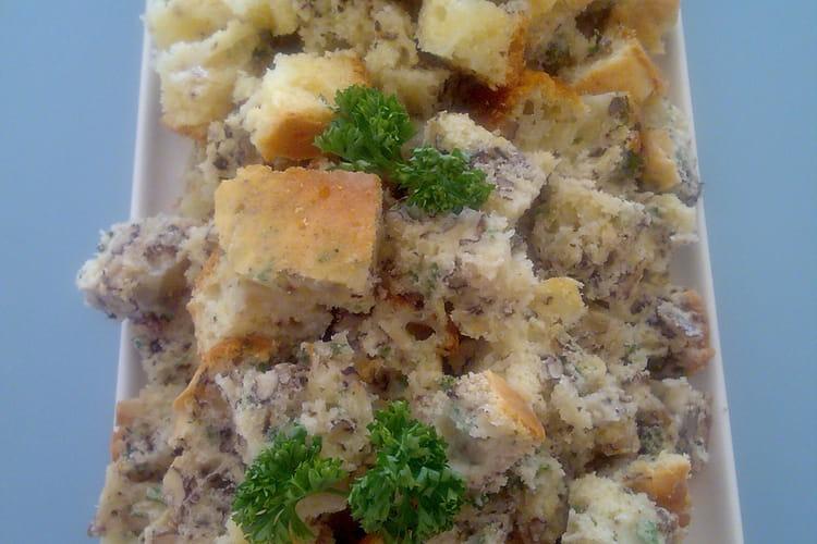 Cake aux noix comté et persil