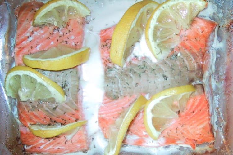Saumon farci au citron et aneth
