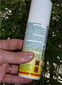 lisez bien les recommandations d'usage avant d'utiliser un répulsif contre les