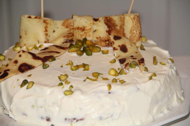 Gâteau de crêpes à la pistache