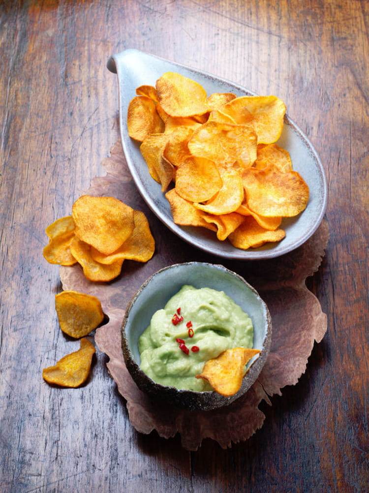 recette de chips de patates douces et guacamole la. Black Bedroom Furniture Sets. Home Design Ideas