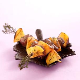brochettes de canard aux nectarines
