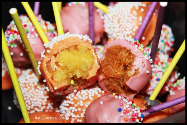 Cake pops façon tarte au citron