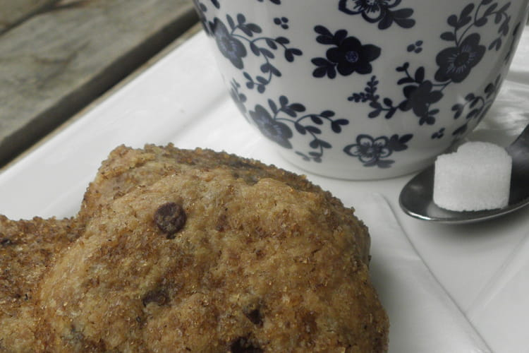 Cookies au beurre de cacahuètes, pépites de chocolat et cassonade