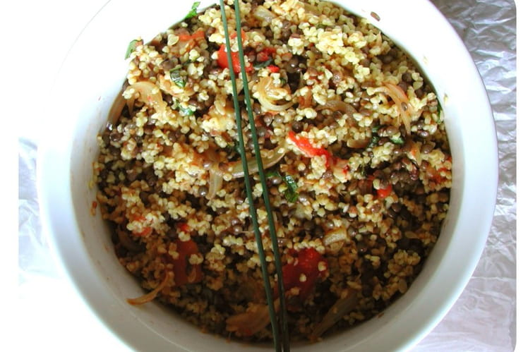 Lentilles et quinoa à la ratatouille