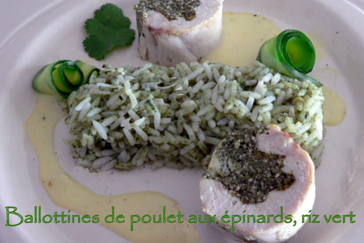 Ballottines de poulet aux épinards sauce béchamel