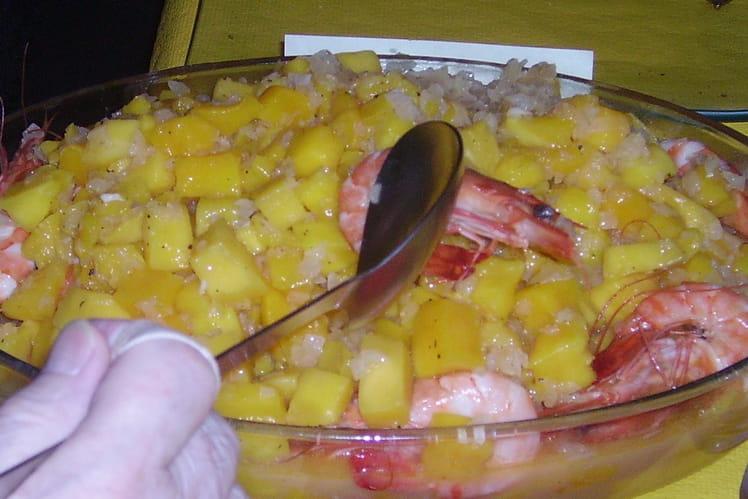 Crevettes aux mangues