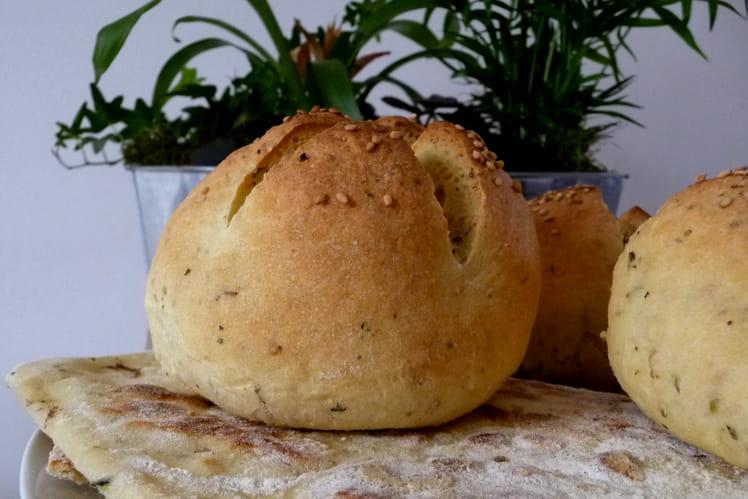 Petits pains à la semoule et à l'huile d'olive