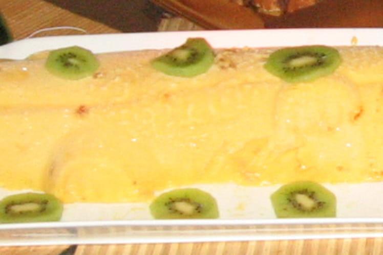 Bûche glacée à la mangue