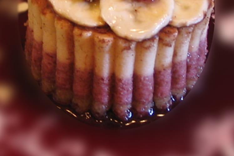 Entremet griottes banane