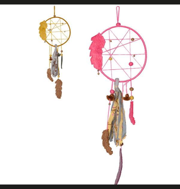 Attrape-rêve feutre, coton et bambou Muskhane