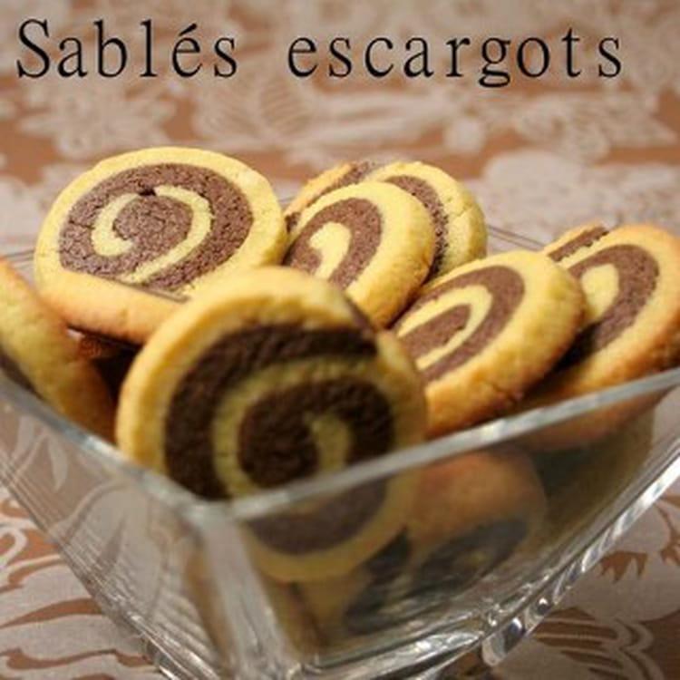 recette de sabl s escargots la recette facile. Black Bedroom Furniture Sets. Home Design Ideas
