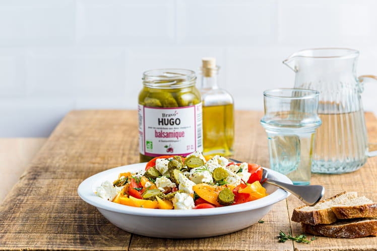 Salade tomates cornichons