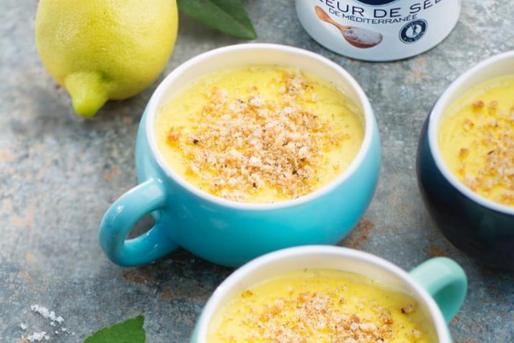 Crème citron vanille crumble sablé