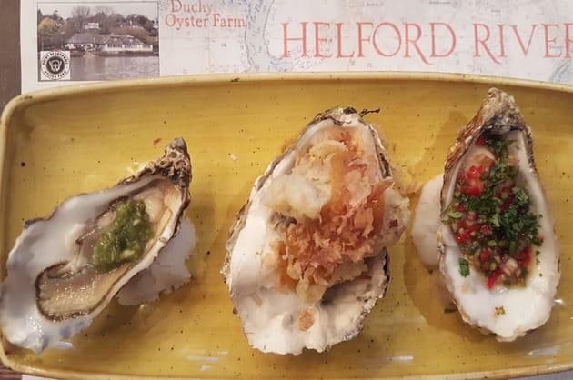 Trio d'huîtres chez Wright Brothers