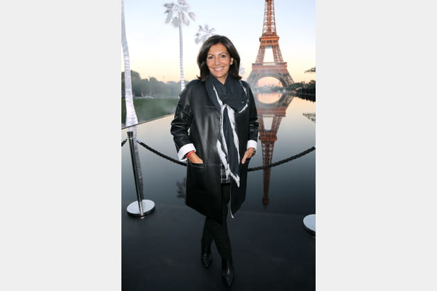 Anne Hidalgo au défilé Saint Laurent