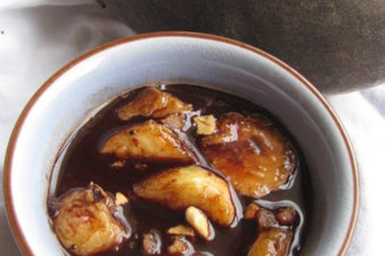 Bananes caramélisées avec leur sauce au chocolat