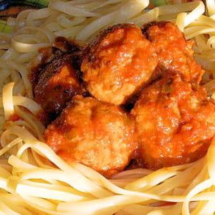 boulettes de viande aux linguini