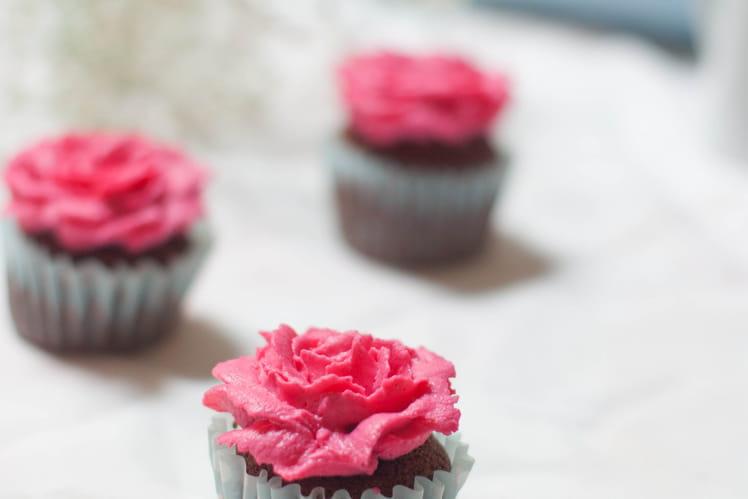 Cupcakes au chocolat et fleur d'oranger