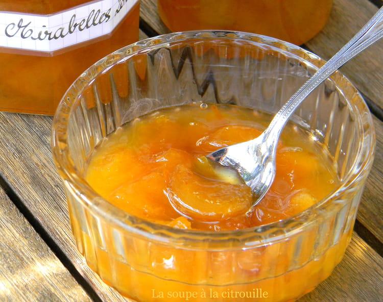 Recette de marmelade de mirabelles la recette facile - Recette avec des mirabelles ...
