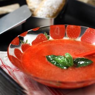 soupe de fraise