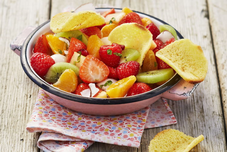 Salade de Fruits et Tuiles de Quatre-quarts