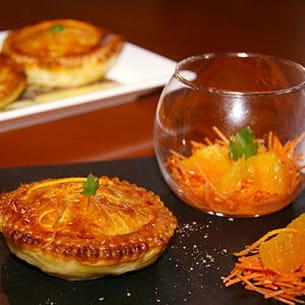 tourte de veau aux carottes et à l'orange