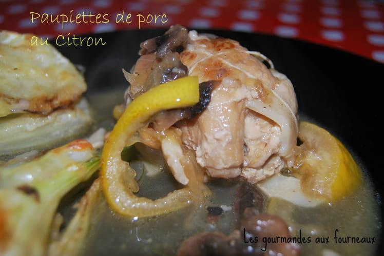 Paupiettes de porc au citron