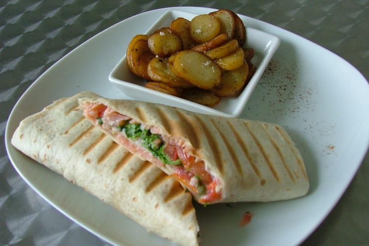 Wraps saumon-crudités