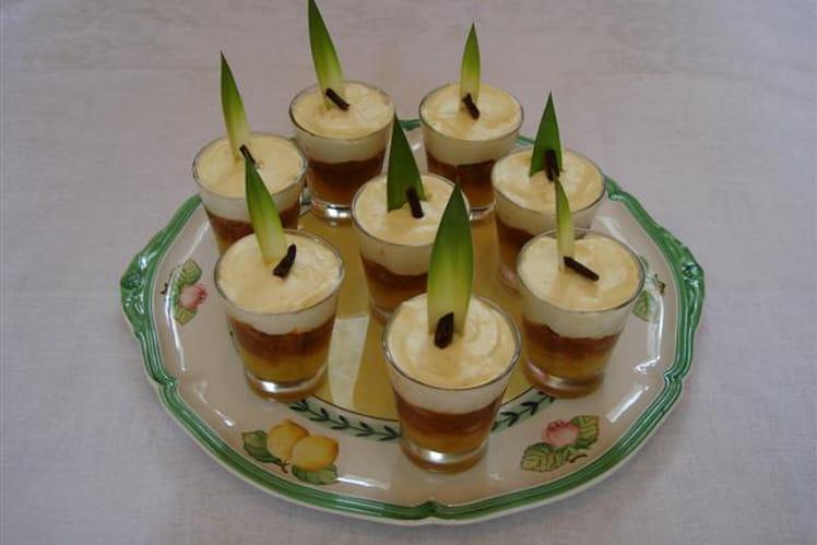 Mini-tiramisu à la compotée d'ananas et pain d'épices