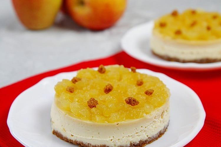 Cheesecake aux pommes et spéculoos