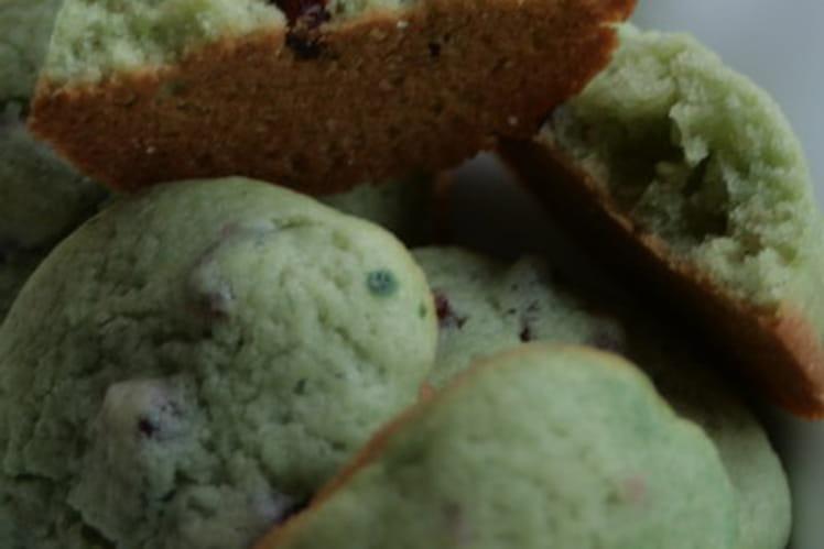 Cookies moelleux à la pistache et aux cranberries