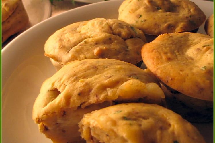 Muffins au navet et noix, coeur de chabichou