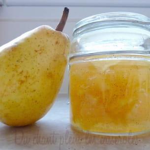 confiture de poires williams à la vanille