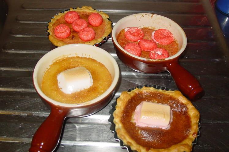 Tartelettes aux fraises tagada et aux chamallows