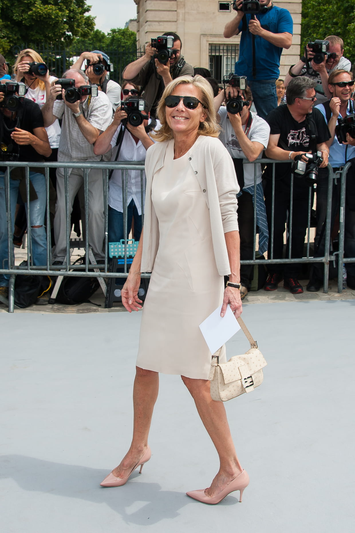 claire chazal en total look cr u00e8me