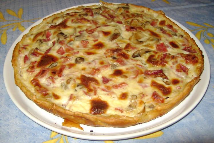 Tarte jambon-bacon