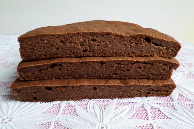 Gâteau au yaourt hyperprotéiné pomme cacao avec soja teff amarante lin