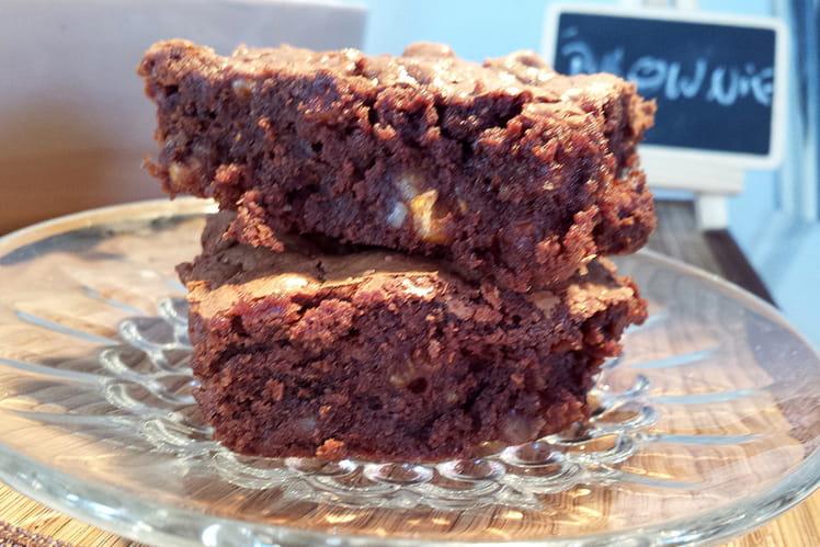 Brownie noix et noisettes