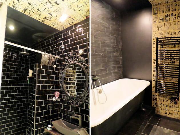 Total look black aux bains