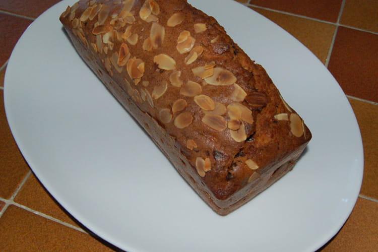 Cake poire, chocolat, amandes