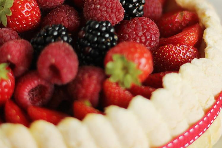 Charlotte vanille-fraise