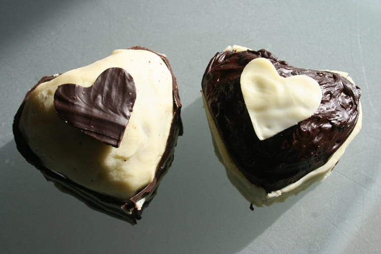 Fondant Black and White Saint-Valentin