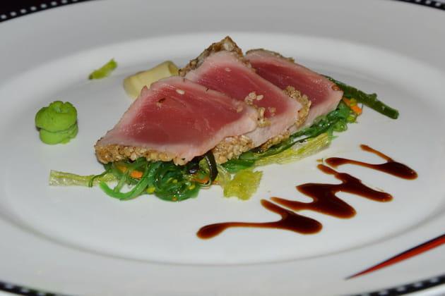 Sashimi de thon au sésame