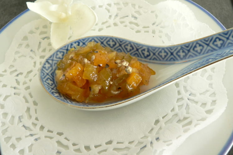 Chutney courgette-courge butternut