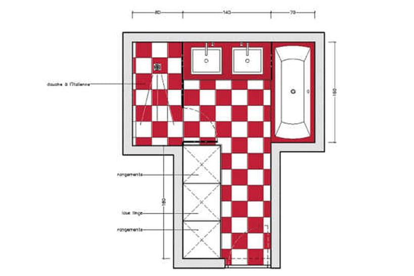 10 plans pour une mini salle de bains