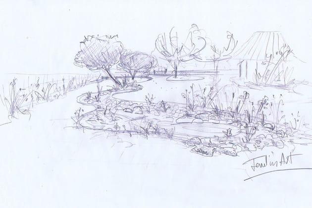 Le croquis for Croquis jardin