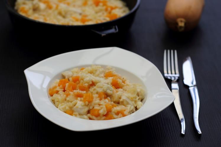 Risotto d'automne à la dinde, butternut et parmesan