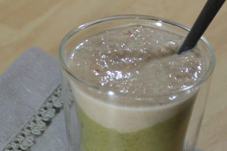 Verrines de velouté de haricots verts et sa crème de lard